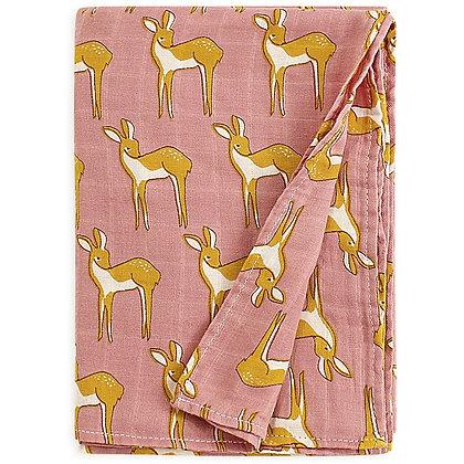 Blush Fawn Muslin Swaddle Blanket