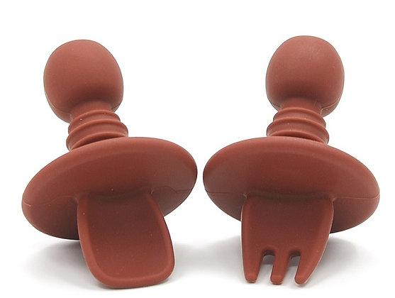 Silicone Mini Utensil Set - Terracotta