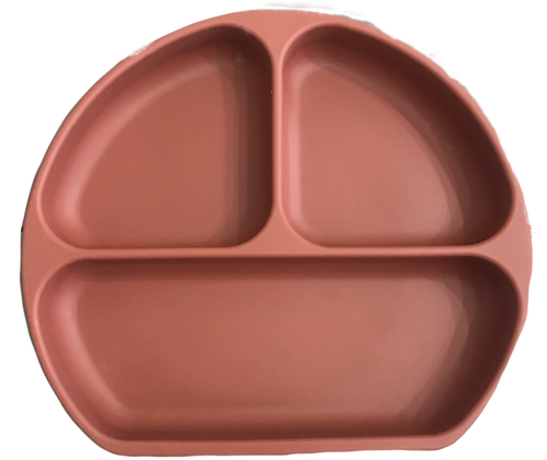 The Case - Silicone Suction Plate - Terracotta