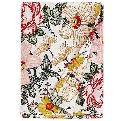 Wildflower Muslin Swaddle Blanket