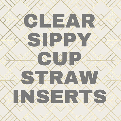 Clear Straw Inserts for Sippy Cups- Pack of 3