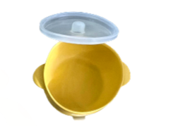 Mustard Suction Bowl with Lid