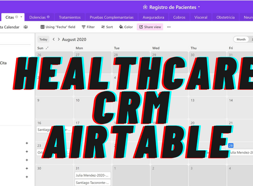 Create a Custom Cloud-Based CRM for Healthcare in a few minutes with Airtable