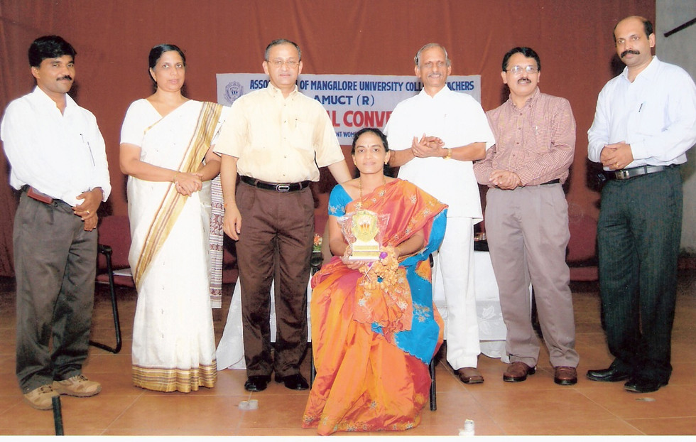 Felicitation by AMUCT