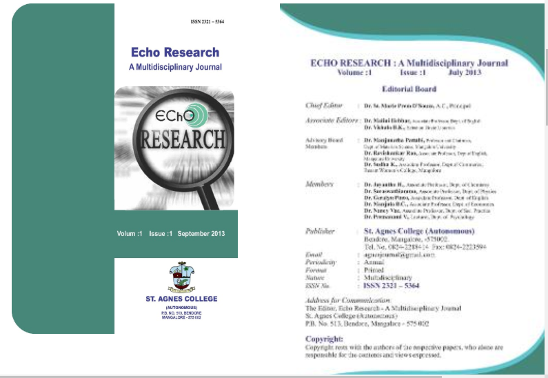 Echo Research :A Multi Disciplinary Journal