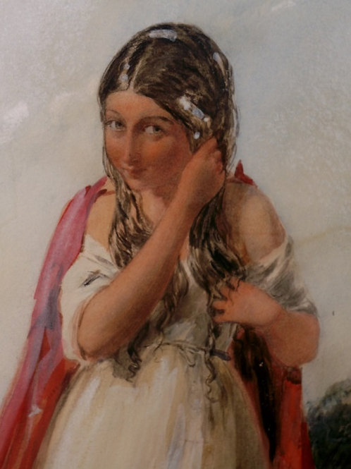 """Gypsy Girl"" by Paul Falconer Poole R.A. c.1843"