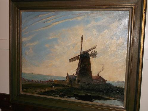 """A Norfolk windmill by the sea""  Philip F. Walker"