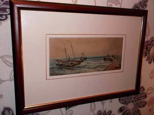 Marine watercolour by Thomas Bush Hardy R.A. R.B.A