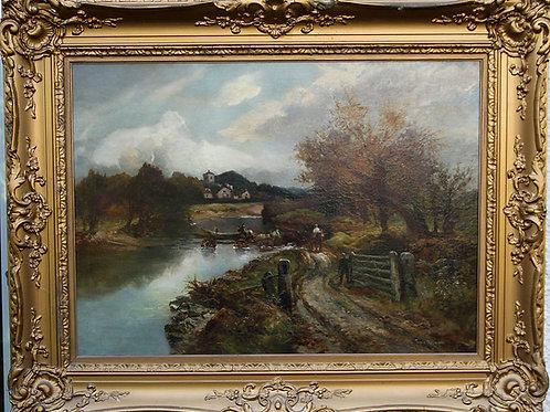 Pastoral river landscape - Frederick Turner Taylor