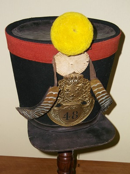 French 48th of the Line infantry - Other Ranks Shako.
