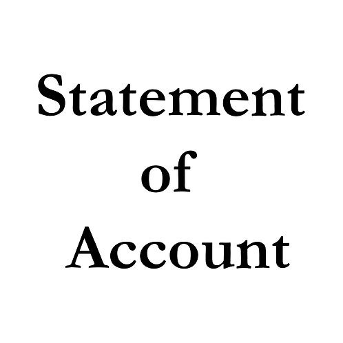 Statement of Account