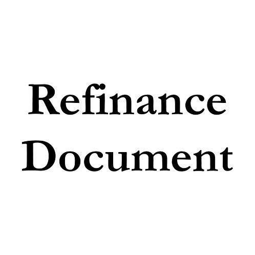 Refinance Document