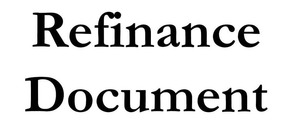 Refinance Document