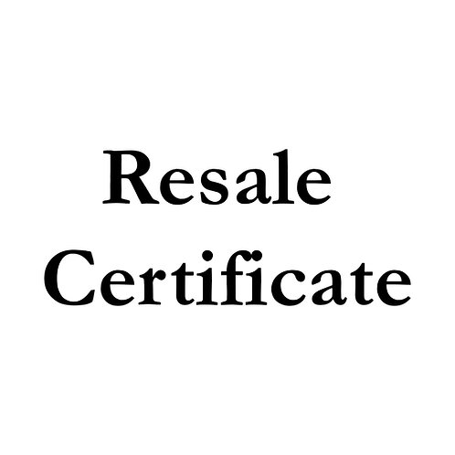 Resale Certification