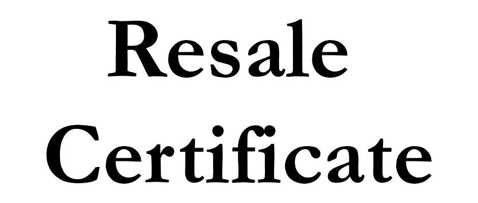 Resale Certification