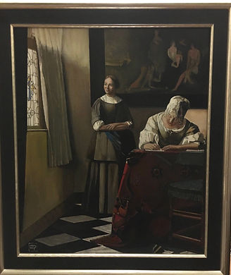 Lady Writing a Letter with her maid Verm