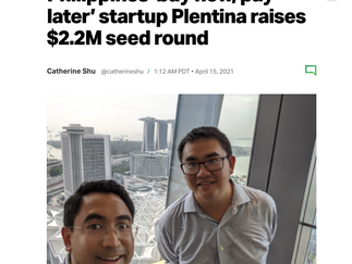 In the news: Philippines 'buy now, pay later' startup Plentina raises $2.2M seed round