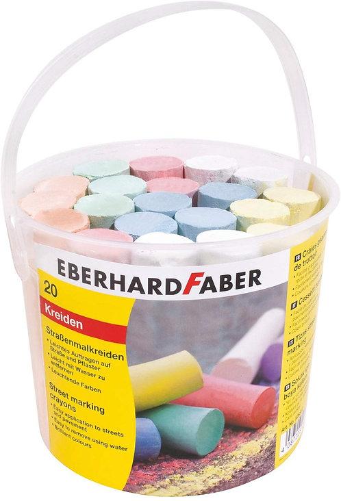 Mega kreidelės Eberhard Faber (20vnt.)