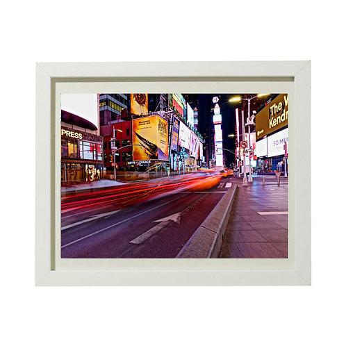 Photo de New York 8 Time Square - A3 encadrée