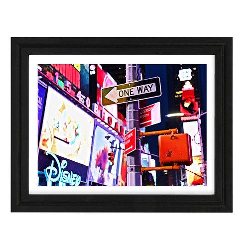Photo New York 9 Time Square - A4 encadrée