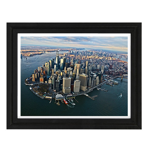 Photo de New York 6 Vue Hélico - A3 encadrée
