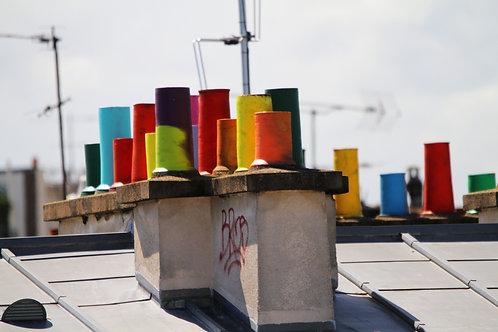 Photo Cheminées colorées 2 - A3