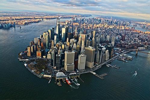Tirage Photo New York 6 Vue d'hélico - A3