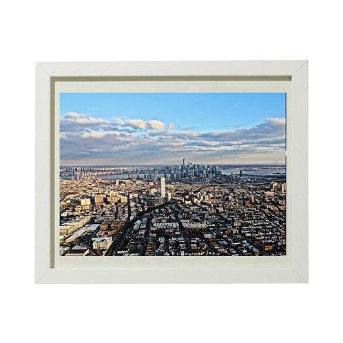 Photo New York 11 Vue d'hélico - A4 encadrée