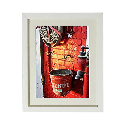 Photo Incendie - A4 encadrée