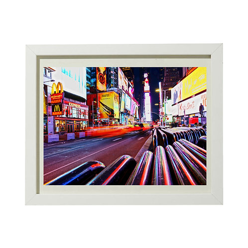 Photo New York 7 Time Square - A4 encadrée