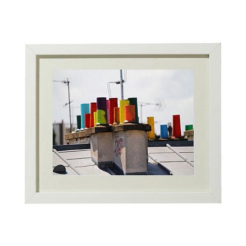 Photo Cheminées colorées 2 - A4 encadrée