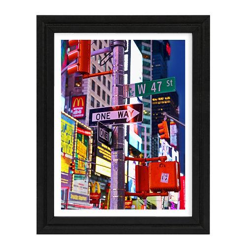 Photo New York 10 Time Square - A4 encadrée