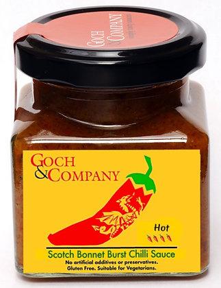 Scotch Bonnet Burst Chilli Sauce (Hot) - 100g