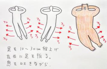 【腹筋呼吸法で胃腸を整えましょう、金魚運動】