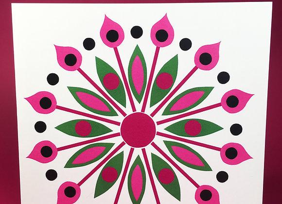 Hydrangea 4 square greeting card