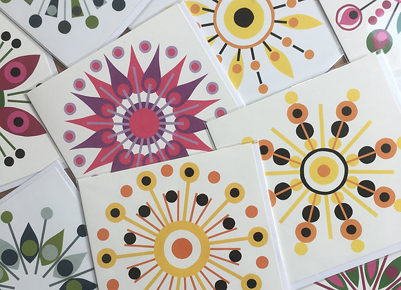 Any 5 square greeting cards for £10!