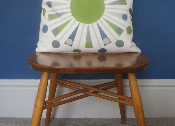 Green Triangle Cushion