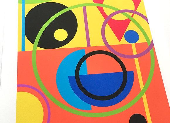 Colour Rush digital Wall Art Print