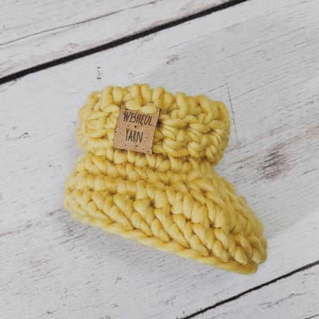 Sunshine Yellow Baby Booties