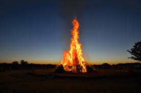 Bagpipes and Bonfire