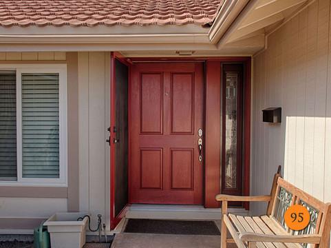 Sun Shield Entry Door