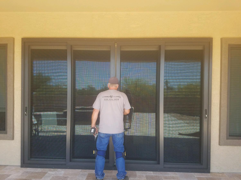 Multi-Slide Security Door