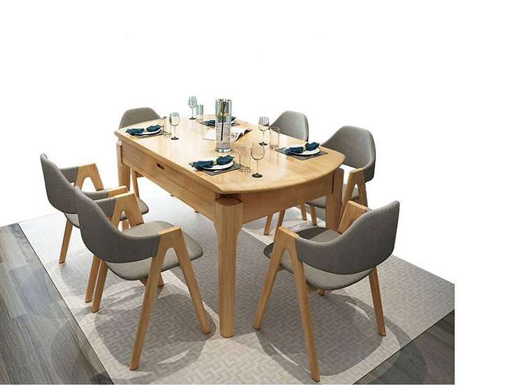 GO-DTB16 Solid wood Dining Table Set