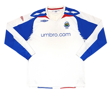 Linfield 2007 Away Mangas Longas