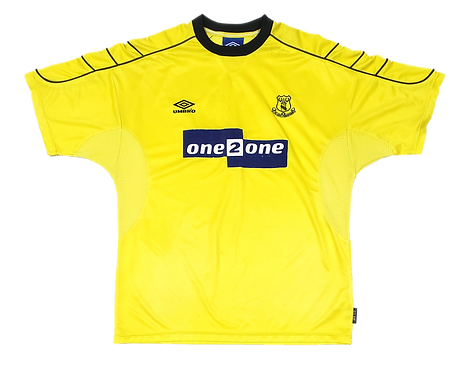 Everton 1999 Away patrocínio azul