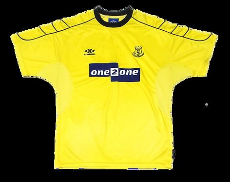 Everton 1999 Away patrocínio azul