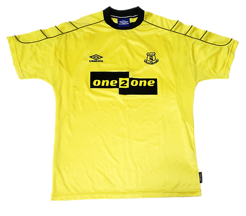 Everton 1999 Away patrocínio preto
