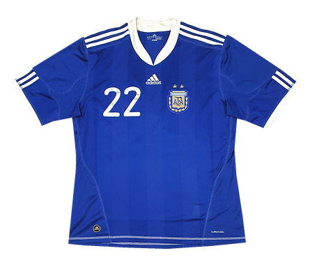 Argentina 2010 Away #22 Milito