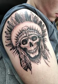 Native Indian Skull