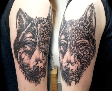 2 Styled Wolf